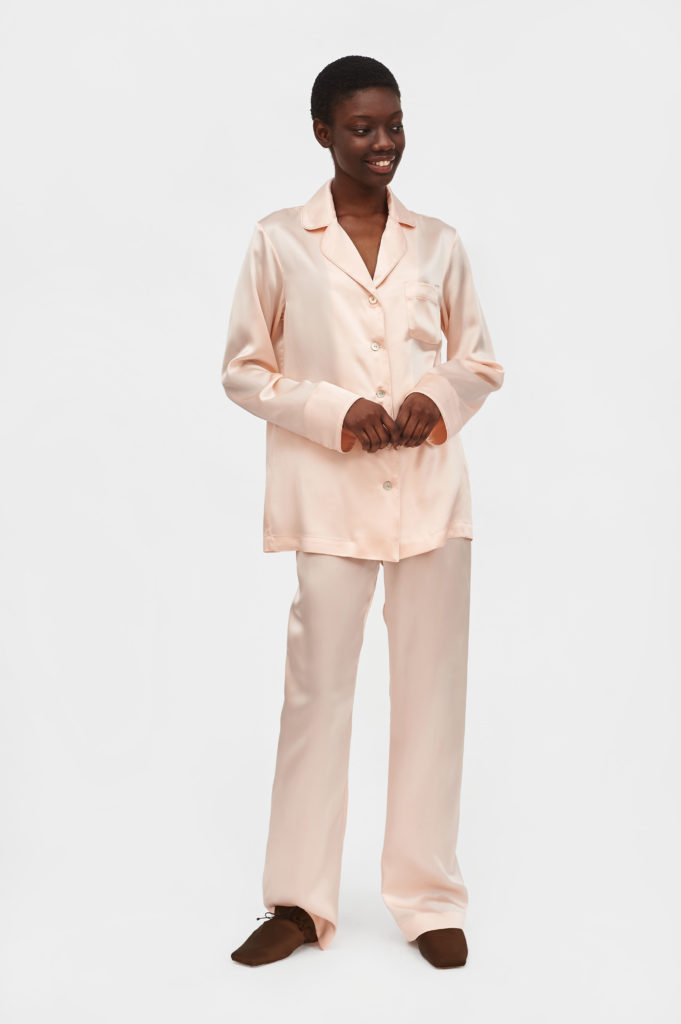 BSC003P_Carrie Blush Silk Pajama with Pants_390 USD