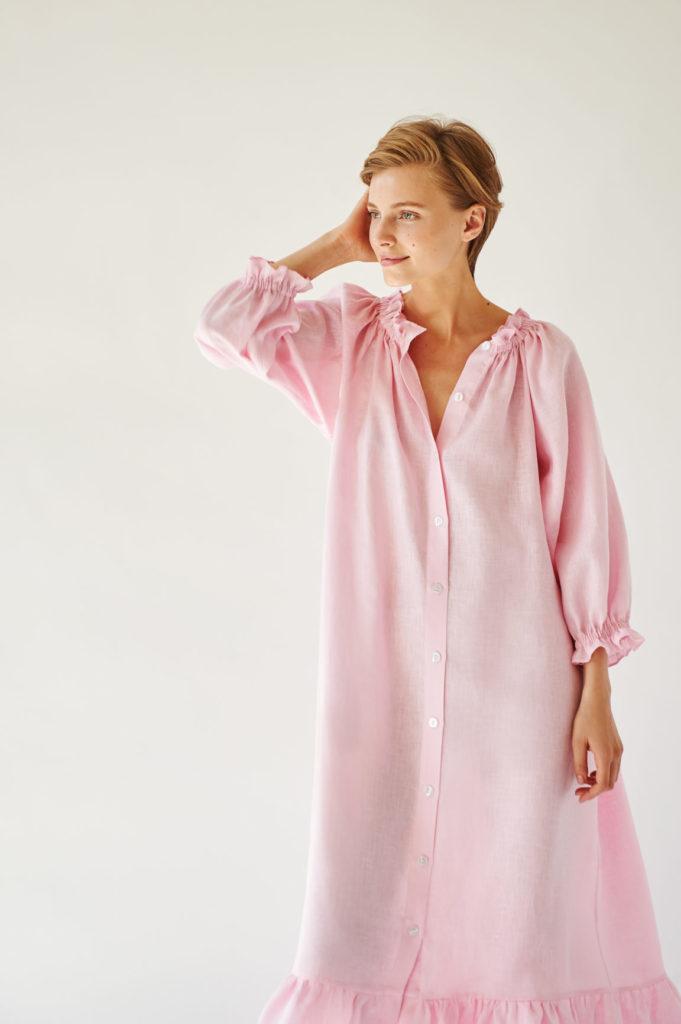 SL003D_Sleeper_Judas Tree Loungewear Dress_250 USD
